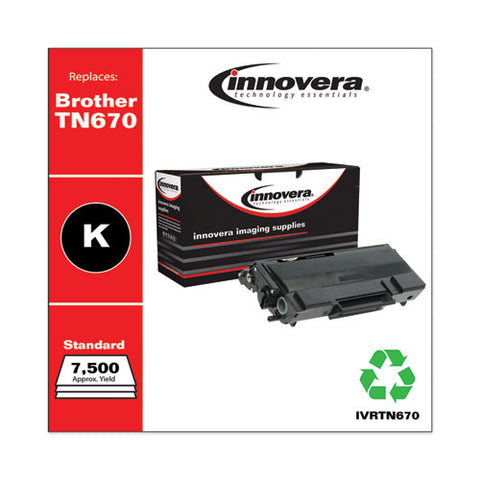 Remanufactured Black High-yield Toner, Replacement For Brother Tn670, 7,500 Page-yield