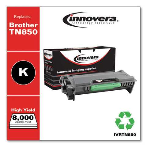 Remanufactured Black High-yield Toner, Replacement For Brother Tn850, 8,000 Page-yield