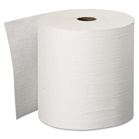 "Essential Plus Hard Roll Towels, 1.5"" Core, 8"" X 600 Ft, White, 6 Rolls-carton"