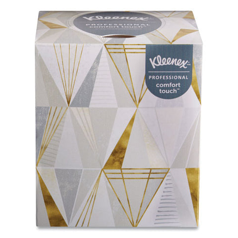 Boutique White Facial Tissue, 2-ply, Pop-up Box, 95 Sheets-box, 3 Boxes-pack, 12 Packs-carton