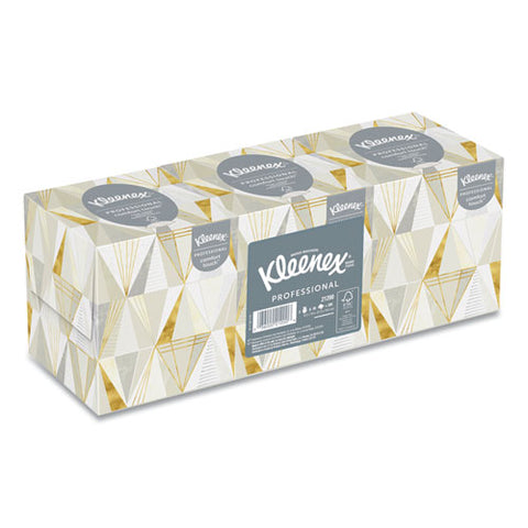 Boutique White Facial Tissue, 2-ply, Pop-up Box, 95 Sheets-box, 3 Boxes-pack