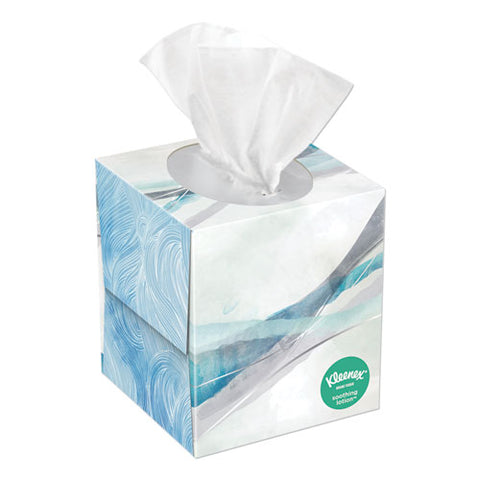 Lotion Facial Tissue, 2-ply, White, 65 Sheets-box