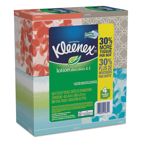 Lotion Facial Tissue, 2-ply, White, 65 Sheets-box, 4 Boxes-pack, 8 Packs-carton