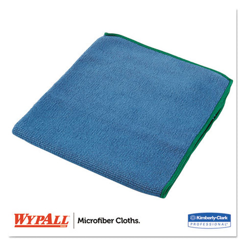 Microfiber Cloths, Reusable, 15 3-4 X 15 3-4, Blue, 6-pack