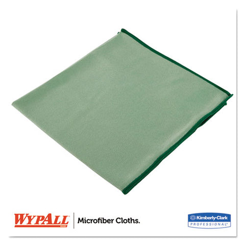 Microfiber Cloths, Reusable, 15 3-4 X 15 3-4, Green, 6-pack