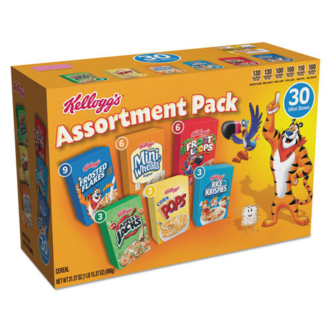 Breakfast Cereal Mini Boxes, Assorted, 2.39 Oz Box, 30-carton
