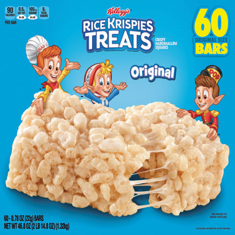 Rice Krispies Treats, Original Marshmallow, 0.78 Oz Pack, 60-carton