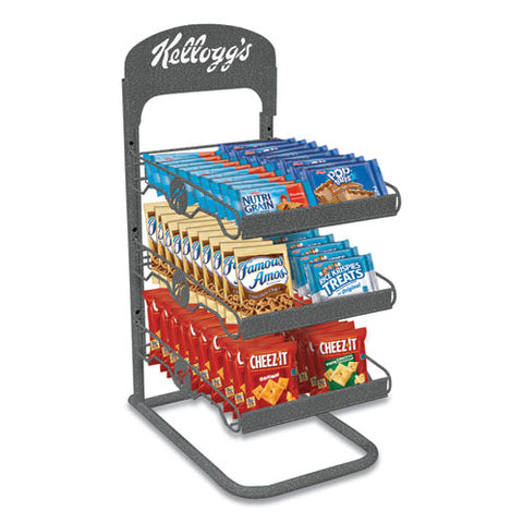 Breakroom Solution Rack With Kellogg's Snack Products, 26.38l X 18.5w X 12.5h