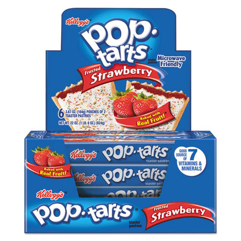 Pop Tarts, Frosted Strawberry, 3.67 Oz, 2-pack, 6 Packs-box