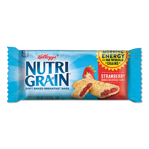 Nutri-grain Soft Baked Breakfast Bars, Strawberry, Indv Wrapped 1.3 Oz Bar, 16-box