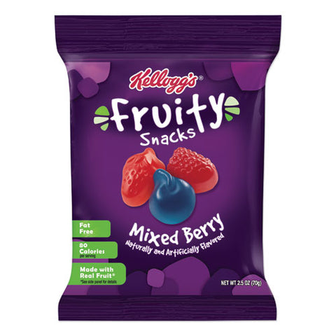 Fruity Snacks, Mixed Berry, 2.5 Oz Packet, 48-carton