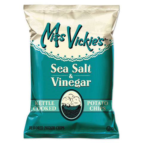 Kettle Cooked Sea Salt And Vinegar Potato Chips, 1.38 Oz Bag, 64-carton