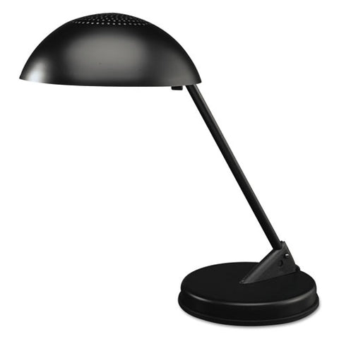 "Incandescent Desk Lamp With Vented Dome Shade, 8.75""w X 16.25""d X 16.25""h, Matte Black"