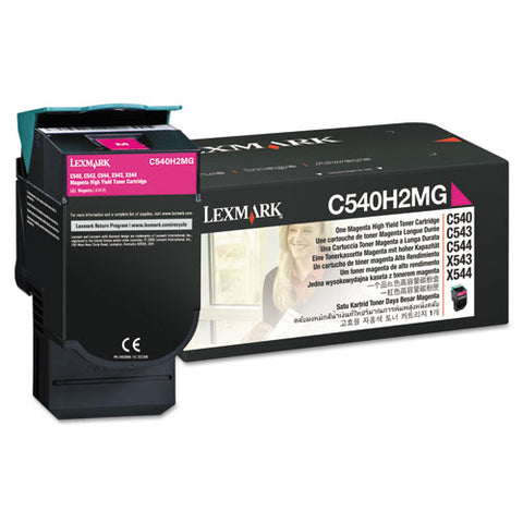 C540h2mg High-yield Toner, 2,000 Page-yield, Magenta
