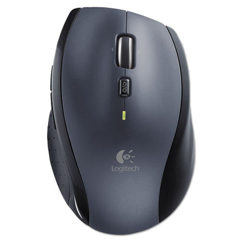 M705 Marathon Wireless Laser Mouse, 2.4 Ghz Frequency-30 Ft Wireless Range, Right Hand Use, Black