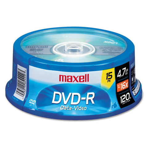 Dvd-r Discs, 4.7gb, 16x, Spindle, Gold, 15-pack