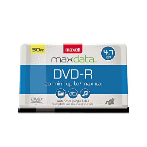 Dvd-r Discs, 4.7gb, 16x, Spindle, Gold, 50-pack