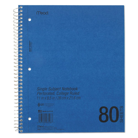 Durapress Cover Notebook, 1 Subject, Medium-college Rule, Assorted Color Covers, 11 X 8.5, 80 Sheets