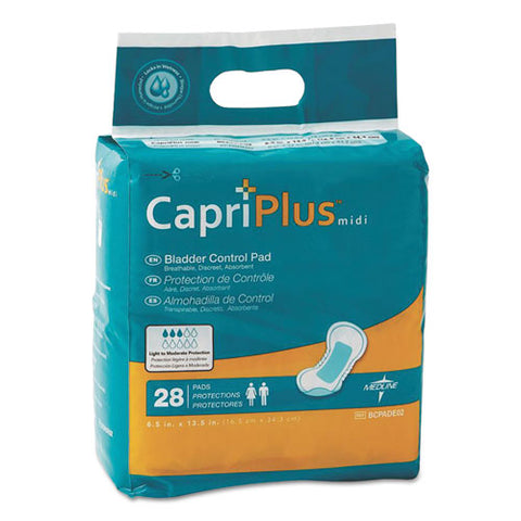 "Capri Plus Bladder Control Pads, Extra Plus, 6.5"" X 13.5"", 28-pack"