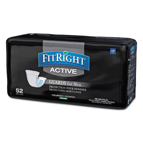 "Fitright Active Male Guards, 6"" X 11"", White, 52-pack, 4 Pack-carton"