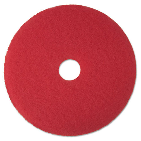 "Low-speed Buffer Floor Pads 5100, 19"" Diameter, Red, 5-carton"