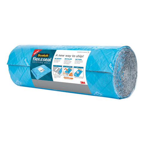 "Flex And Seal Shipping Roll, 15"" X 20 Ft, Blue-gray"