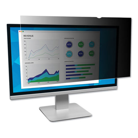 "Frameless Blackout Privacy Filter For 19.5"" Widescreen Monitor, 16:9 Aspect Ratio"
