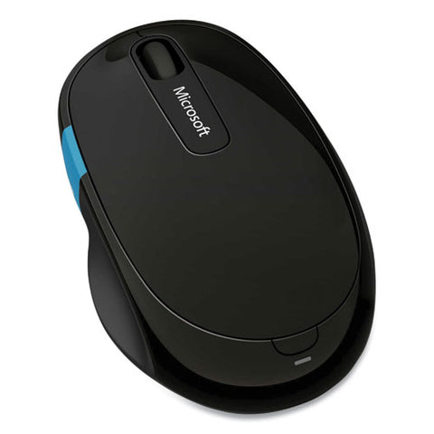 Sculpt Comfort Bluetooth Optical Mouse, 33 Ft Wireless Range, Right Hand Use, Black-blue