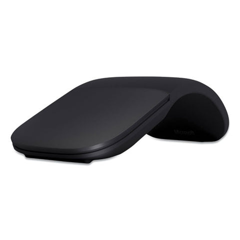 Arc Wireless Bluetooth Mouse, 32.8 Ft Wireless Range, Left-right Hand Use, Black