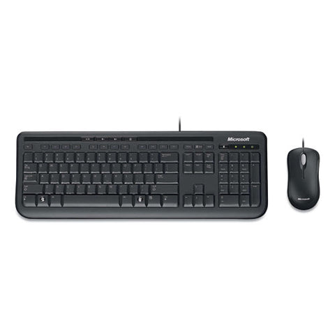 Desktop 600 Wired Keyboard And Mouse Combo, Black