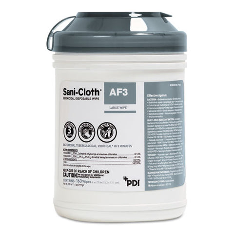 Sani-cloth Af3 Germicidal Disposable Wipes, 6 X 6 3-4, 12 Per Carton