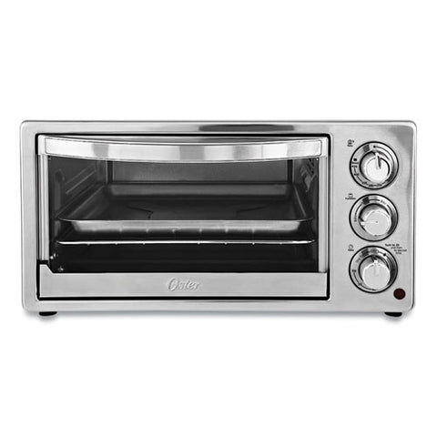 Convection Toaster Oven, 6-slice, 16.8 X 13.1 X 9, Stainless Steel-black