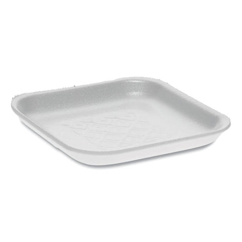 Supermarket Tray, #1s, 5.1 X 5.1 X 0.65, White, 1,000-carton