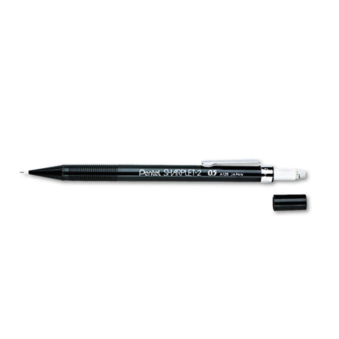 Sharplet-2 Mechanical Pencil, 0.5 Mm, Hb (#2.5), Black Lead, Black Barrel