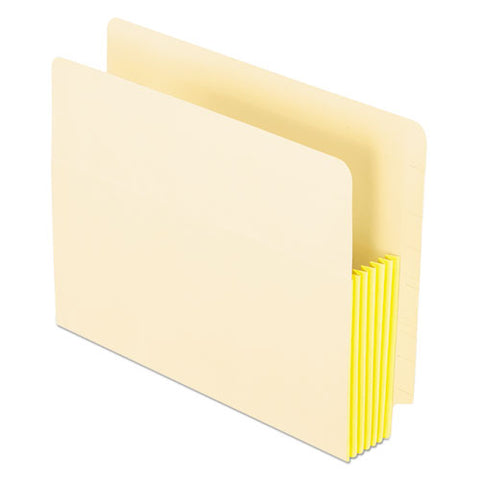 "Manila Drop Front Shelf File Pockets, 5.25"" Expansion, 10 Sections, Letter Size, Manila, 10-box"
