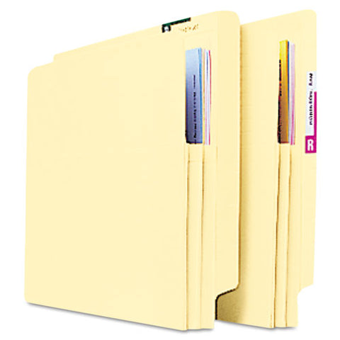 "Convertible End Tab File Pockets, 1.75"" Expansion, Letter Size, Manila, 25-box"