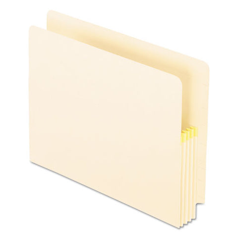 "Convertible End Tab File Pockets, 3.5"" Expansion, Letter Size, Manila, 25-box"