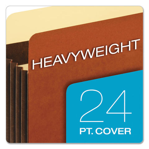 "Heavy-duty File Pockets, 5.25"" Expansion, Legal Size, Redrope, 10-box"