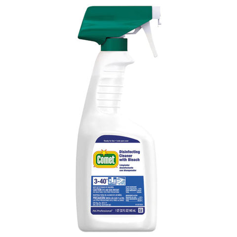 Disinfecting Cleaner W-bleach, 32 Oz, Plastic Spray Bottle, Fresh Scent, 8-carton