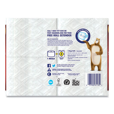 Ultra Strong Bathroom Tissue, Septic Safe, 2-ply, 4 X 3.92, White, 264 Sheet-roll, 4-pack, 6 Packs-carton