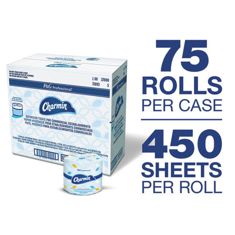 Commercial Bathroom Tissue, Septic Safe, 2-ply, White, 450 Sheets-roll, 75-carton