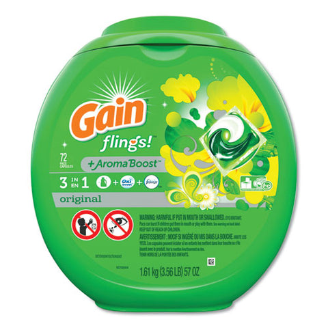 Flings Laundry Detergent Pods, Original Scent, 72-container