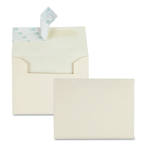 Greeting Card-invitation Envelope, A-2, Square Flap, Redi-strip Closure, 4.38 X 5.75, Ivory, 100-box