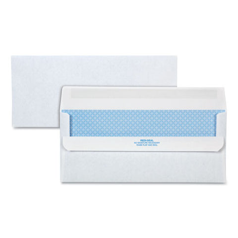 Redi-seal Envelope, #10, Commercial Flap, Redi-seal Closure, 4.13 X 9.5, White, 500-box