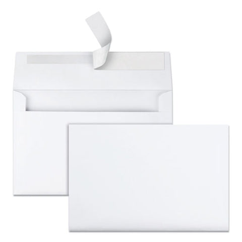 Greeting Card-invitation Envelope, A-9, Square Flap, Redi-strip Closure, 5.75 X 8.75, White, 100-box