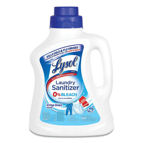 Laundry Sanitizer, Liquid, Crisp Linen, 90 Oz, 4-carton
