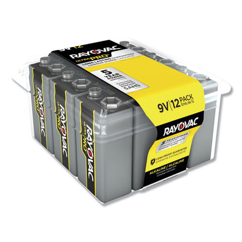 Ultra Pro Alkaline 9v Batteries, 12-pack