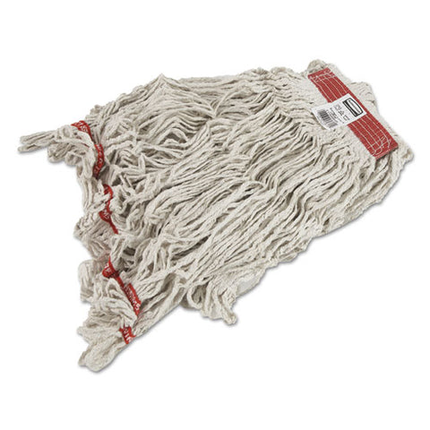 Swinger Loop Wet Mop Heads, Cotton-synthetic, White, X-large, 6-carton