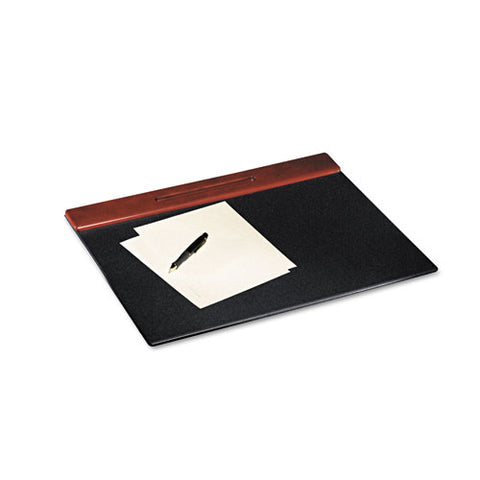 Wood Tone Desk Pad, Mahogany, 24 X 19