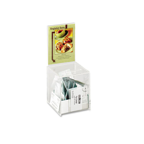 Small Acrylic Collection Box, 5 1-2 X 5 1-2 X 13, Clear